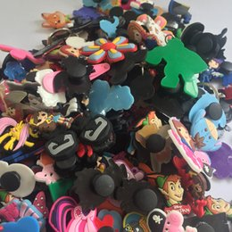 different shoes NZ - 20PCS Mixed Different Styles Random Shoe Accessories PVC Shoe Charms Shoe Decoration fit for Cro cs & Wrisbands Free Shipping