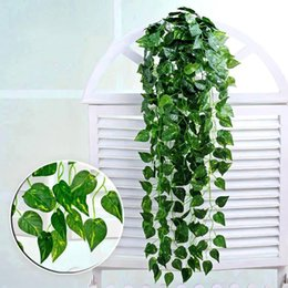 Plants Vines Australia - 2019 Hanging Vine Leaves Artificial Greenery Artificial Plants Leaves Garland Home Garden Wedding Decorations Wall Decor free shipping
