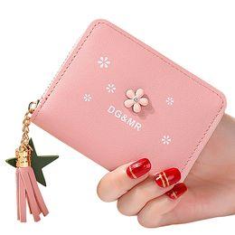 Lady Zipper Handbags Australia - Women Wallets Soft Pu Leather Short Lady Handbags Girls Wallet Cards Id Holder Woman Tassels Zipper Coin Purse Moneybags Purses