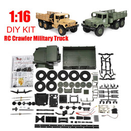 Green Truck Cars Australia - Yellow Green DIY Kit B16 1:16 2.4G 6 Wheels RC Crawler Off-Road Car Toy Military Truck Drive Lights Excellent Climbing Ability