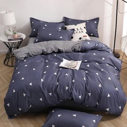 purple bedding full UK - Geometric Bedding Set Black White Nordic Simple Bedding Simple Queen King Sizes Duvet Cover Pillowcase 3 4pcs polyester&cotton