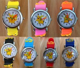 $enCountryForm.capitalKeyWord Australia - 3D Cartoon Pikachu Watch Boys Girls Soft Silicone Quartz Watches Students Cartoon Anime Digimon Watch Wristwatches For Kids gifts hot
