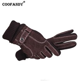 Casual Leather Gloves Australia - Black Unisex Windproof Screen Casual Brown Solid Gloves Wrist Autumn Warm Full-Finger Touch Winter