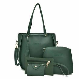 $enCountryForm.capitalKeyWord NZ - New 4Pcs Set Women Handbag Leather Shoulder Bag Large Messenger Crossbody Bag Tote Purse Clutch For Lady Casual School