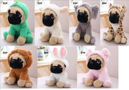 $enCountryForm.capitalKeyWord Australia - Pug plush toys cute stuffed animals soft doll dog cosplay dinosaur elephant kids toys birthday christmas gift for children gifts Free DHL