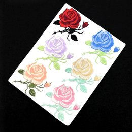 stamp accessories NZ - Rose embroidery cloth with cheongsam decorative accessories backing patch manufacturer direct sales coat repair subsidy stamp