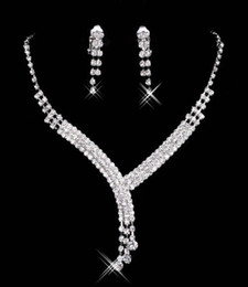 ElEgant pEarl sEt banglEs online shopping - 15023 Real Image In Stock Ivory Jewelry Sets With Earring Elegant Formal Prom Evening Party Wear Bridal Jewelry