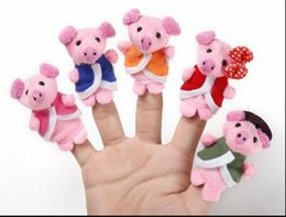 $enCountryForm.capitalKeyWord Australia - 5 piglets Lovely Finger Puppet Tell story baby plush toys RPG use Role play Doll Hand Puppet Animal Toy Group 7cm
