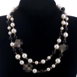 2020 coréenne long pull chaîne Colar Maxi Collier de perles Simulé Fleurs Collier Femme Mode Bijoux Bijoux femme Cadeaux de Noël en Solde