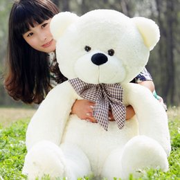 Discount huge pillows - YunNasi 120cm Giant Teddy Bear Stuffed Toys Animals PP Cotton Huge Teddy Plush Pillow Soft Toys For Girls Children Birth