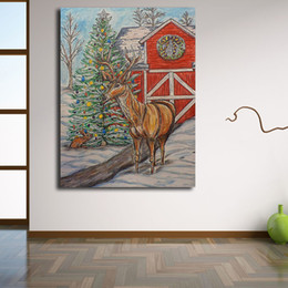 $enCountryForm.capitalKeyWord Australia - Christmas Tree Farm Comic Canvas Painting Print Artwork Living Room Home Decor Modern Wall Art Oil Painting Poster Decroation