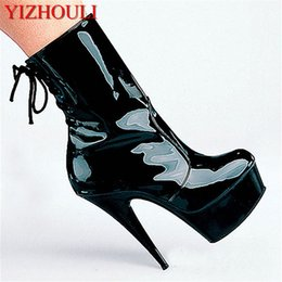 $enCountryForm.capitalKeyWord Australia - fashion sexy knight female ladies 6 inch high heels platform 15cm pole dancing ankle boots autumn winter shoes
