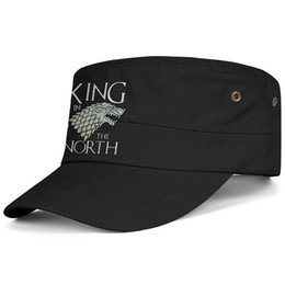 Ball For Game UK - Womens Mens Flat-along Adjustable Game of Thrones King in The North Hip Hop Cotton Ball Cap Bucket Sun Hats Military Caps Airy Mesh Hats For