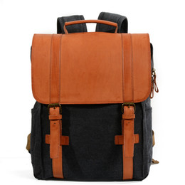 Styles Backpacks Australia - Europe and America style Genuine Leather canvas hicking outdoor sport backpack waterproof travel school bag leisure outdoor backpack