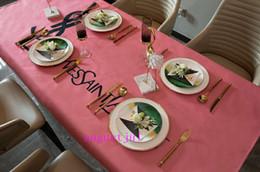 Письмо поп логотипы скатерть Красный L полный цветочек новая столовая / кухня декоративная ткань 3 стиль на Распродаже