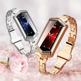 Gps Hd Australia - Men and women smart bracelet HD color diamond diamond-shaped diamond belt heart rate GPS step couple bracelets For Android iOS