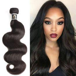 Blonde Hair Weaved Australia - Human Hair Bundles Blonde Hair Weave Bundles Brazilian Body Wave Natural Color Remy Hair Free Shipping