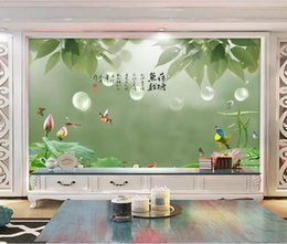 Fiber Fun Australia - 3d room wallpaper custom photo non-woven mural HD lotus kingfisher squid lotus pond fish fun wallpaper for walls 3 d