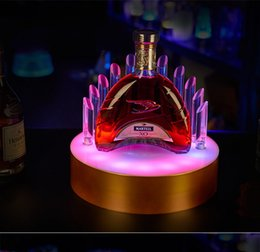 Glow Party Decorations Australia - Creative rechargeable LED Luminous Beer Wine Bottle Holder Glowing Champagne Cocktail Drinkware Holder for bar disco party decor