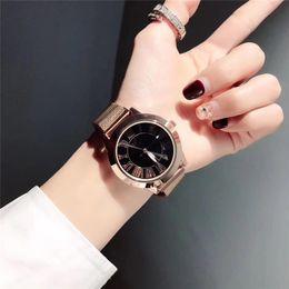 Men S Big Watch Australia - Famous design Fashion men s Girl crystal dial Stainless steel metal band quartz wrist watch PANDORA Bracelet Watch gue ss big bang di or