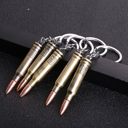 $enCountryForm.capitalKeyWord Australia - Bullets Keychain Game Accessories High Quality Metal Key Ring Key Chain For Player's Gifts