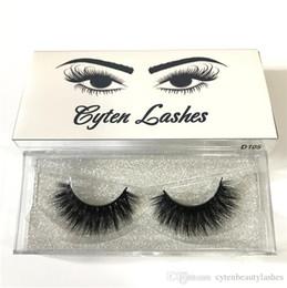 $enCountryForm.capitalKeyWord Australia - 3D Real Mink Lashes Fur False Eyelashes Strip Thick Fake Faux Eye Lashes Makeup Beauty 100% Handmade Glitter Packing with Free Logo D105