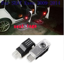 Lighted Car Logos Australia - 1 Pair LED Car Door Courtesy Laser Projector Welcome Logo Ghost Shadow Light For SEAT Exeo 2009-2014