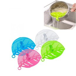 $enCountryForm.capitalKeyWord UK - Snap-type leaf shape drain board Rice Wash Filtering Baffle Durable Leaf-shaped Sieve Beans Peas Washing Filter Kitchen Cleaning Tools