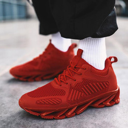 $enCountryForm.capitalKeyWord Australia - Men brand Sneakers High Quality Men White Black RED Breathable Casual Shoes Knitted Fly weaving cloth Tenis Flats shoes E21-34