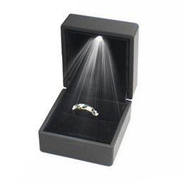 Light Display Case Australia - LED Lighted Jewelry Storage Case Earring Ring Necklace Bracelet Gift Box LED Lighted Jewelry Box Case Display
