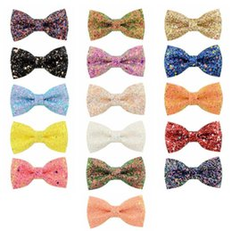 $enCountryForm.capitalKeyWord Australia - Sequin Big Bow DIY Headbands Accessories Baby Boutique Hair Bows without Alligator Clip for Girls 16colors choose BY1206