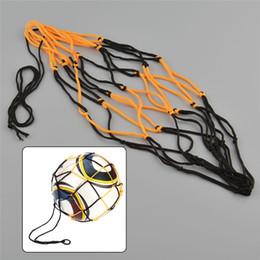 Games For Soccer NZ - Outdoor Durable Standard Black&Yellow Nylon Net Bag Ball Carry Mesh for Volleyball Basketball Football Soccer Multi Sport Game #15198