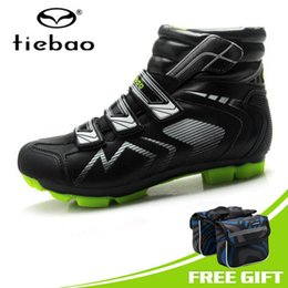 locking ankle boots Canada - TIEBAO Professional Men MTB Bicycle Cycling Shoes Winter Windproof Warm Self-Locking High Ankle Boots Mountain Bike Racing Shoes