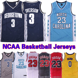 89e7fbb7f4c5 NCAA North Carolina Tar Heels 23 Michael Jersey 3 Iverson Georgetown Hoyas  0 Kuzma Basketball Jerseys