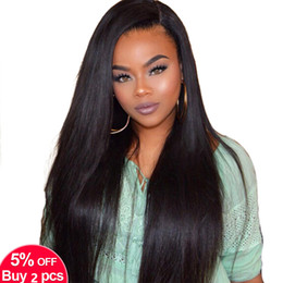 Virgin Brazilian Human Hair Wigs Australia - 9A Brazilian Virgin Hair Lace Front Human Hair Wigs For Black Women Pre Plucked Brazilian Ramy Straight Lace Front Wig