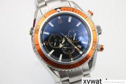 $enCountryForm.capitalKeyWord Australia - Luxury watch World Famous Master Series Marine Orange Ceramic Bezel Silver High Quality Stainless Steel Strap 232.30.42.21.01.002