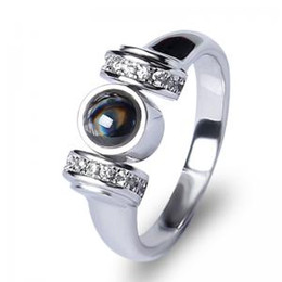$enCountryForm.capitalKeyWord NZ - 100 Language I Love You ring Memory Roman girl ring wedding valentine's day gift party favor Fashion Jewelry Gift FFA1584