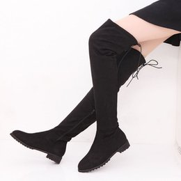 $enCountryForm.capitalKeyWord Australia - Women Boots Sexy Over-the-knee Boots Female Winter Flat Shoes Woman High Plus Size Women Shoes Lace Up Ladies Booties