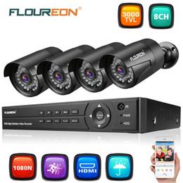 $enCountryForm.capitalKeyWord Australia - FLOUREON 10 pcs CCTV Security Camera system 8CH 5in1 1080N AHD DVR 4 pcs Outdoor 3000TVL 1080P 2.0MP Camera Security Kit