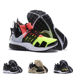 Fashionable Flat Shoes Laces Canada - 2018 Famous ACRONYM x Lab Presto Mid Running Shoes For Men, Fashionable White Black Hot Lava Presto Shoes Sport Trainers Eur 40-46