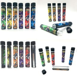 Sticker labelS roll online shopping - Empty Glass Tubes Moonrock Pre Rolling Joint Packaging Tubes DANKWOOD mm Dry Herb Herbal Sticker Pre roll Bottle Labels