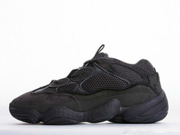 Ingrosso Desert Rat 500 Running marche famose Scarpe Moon Yellow Black Blush 2019 Designer Uomo Womens Sneakers Scarpe da ginnastica Cow Leather 3M Reflective L2t