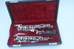 China SUZUKI New OBOE C Key Bakelite Tube Semi-automatic Style Oboe Musical Instrument Cupronickel Silver Plated Key with Case Free Shipping supplier bakelite case suppliers