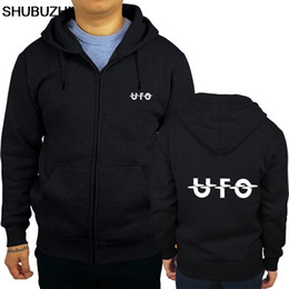 Wholesale rock music sweatshirts for sale – custom UFO Band Rock Music Metal Logo hoodie Hipster Cool Tops Loose Black Men hoody Homme sweatshirt Base pullover sbz190