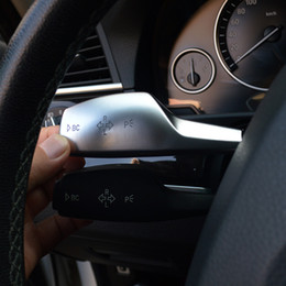 $enCountryForm.capitalKeyWord Australia - Chrome Car Steering Wheel Wiper Lever Cover Blinker Rod Trim For BMW X1 F48 X3 F25 X5 F15 X2 X4 1 2 3 4 5 6 7 sereis Interior Accessories