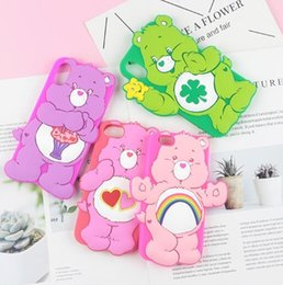 $enCountryForm.capitalKeyWord Canada - 3D Cute Cartoon Soft Silicone Cover Flower Cat Duck Bear Case for iPhone 6 6S 7 8 Plus XS Max XR X Cases