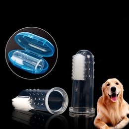 tooth products Australia - 1pcs New Rubber Pet Finger Toothbrush With Box Dog Toys Environmental Protection Silicone Glove for Dogs and Cats Clean Teeth Puppy Toys
