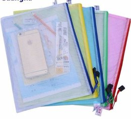 office filing supplies Australia - 2019 1 pcs Waterproof Plastic Zipper Paper File Folder Pencil Pen Case document bag for office student supplies