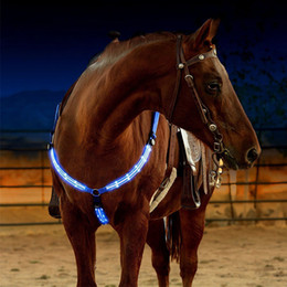 LED Arnés para caballos Coraza Nylon Correas Noche Visible Equipo para montar a caballo Paardensport Racing Cheval Equitation Tack on Sale