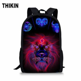 $enCountryForm.capitalKeyWord Australia - THIKIN Cool 12 Constellations School Bags For Boys Girls Casual 3D Men's Backpack Cartoon Orthopedic Rucksack Kids Book Bag